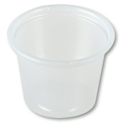 Solo P100-0100 30ml Translucent Polystyrene Souffle Portion Cup
