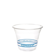 Eco-Product EP-CR9 BlueStripe Recycled PET Cold Cup, 270ml Capacity