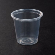 Solo T125-0090 35ml Clear Plastic Souffle Cup / Shot Glass 250 / Pack