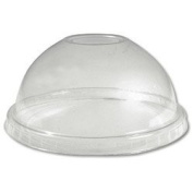 Boardwalk BWK YPDL-20C Clear Dome Lid For 150ml Sundae And 9-20 oz Cup
