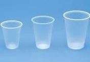 RK Ribbed Cold Drink Cups, 410ml, Clear