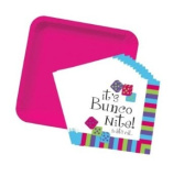 Bunco Night Plate and Napkin Set - 38 Piece Pink