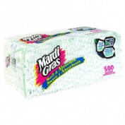 Mardi Gras Napkins, 1-Ply, 500 napkins