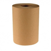 Hardwound Paper Towels, 20.3cm x350', One-Ply, 12 Rolls/Case, Natural Kraft Colour