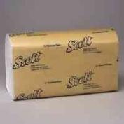 SCOTT 1-Fold Paper Towels, 9-3/8 x 10-1/2, WE, 250/pack, 16/ctn