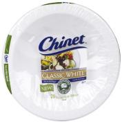 Chinet Classic White Salad/Side Dish, 590ml-20 ct