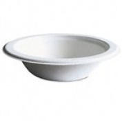 Eco-Products EPBL12 - Compostable Sugarcane Dinnerware, 350ml Bowl, Natural White, 1000/Carton