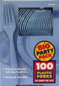 Costumes 203285 Pastel Blue Big Party Pack- Forks