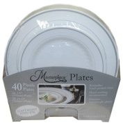 """Masterpiece """"I can't believe it's plastic"""" 40 Plates"""