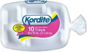 Kordite 9 x 12 Styrofoam Compartment Trays Plates