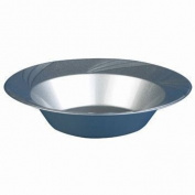 Newbury Collection 350ml Silver Plastic Soup Bowls, Heavyweight Disposable Soup-Salad Bowls 15 Per Pack