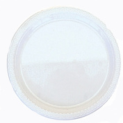 Amscan International 22.8 cm Plate Plastic, Frost White