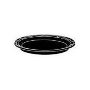 15.2cm Silhouette Plastic Round Plates in Black