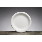 22.6cm Elite Laminated Foam Round Plates in White