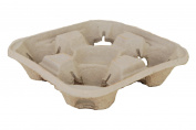 Southern Champion Tray 18950 ChampWare Moulded Fibre 4 Cup Drink Carrier, Hold 8 to 950ml Cup