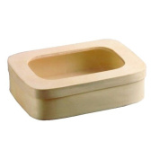 PacknWood Saga Wooden Box With Window Lid, 18cm Long x 13cm Wide x 4.8cm High