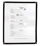 Update International MCV-1BK Plastic Single Menu Cover, 23.5cm by 30.5cm , Black