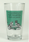 """Someecards """"Outdoorsy"""" Pint - Teal"""