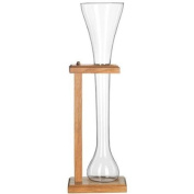 Half Yard Of Ale Glass w/ Wooden Stand, 950ml