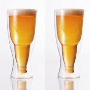 Double-Wall Glass Beer Pilsner 390ml Set Of 2 by Brilliant