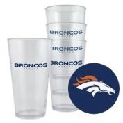 Caseys Denver Broncos Plastic Pint Glass Set