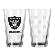 Boelter Oakland Raiders Satin Etch Pint Glass Set