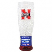 Duck House CSY-9413125405 Nebraska Cornhuskers NCAA Crystal Pilsner Glass