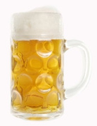 Stolzle 0.5 Litre Dimpled Glass Beer Stein