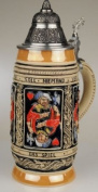 Thewalt by King Card Players Full Relief Authentic German Beer Stein