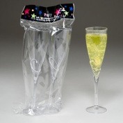 2 Pack Clear Acrylic Champagne Flute Glasses