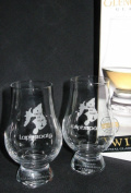 LAPHROAIG TWIN PACK GLENCAIRN SCOTCH MALT WHISKY TASTING GLASSES