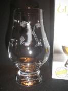 """GLENCAIRN CELTIC """"K"""" MONOGRAMMED WHISKY TASTING GLASS"""