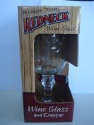 """Multi-Tasking"" Kountry Krystal Wine Glass with Coaster"