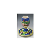 Ceramic Kiddush Cup and Tray