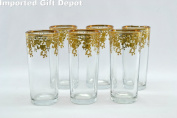 Unique Glasses with 14 Karat Gold Pattern - Made of Finest Three Star Glass