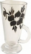 Black Rose Latte Glass