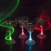 Lot of 4 of LED Light Up Flashing Margarita Glasses