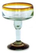 Mexican Glass Margarita Amber Rim