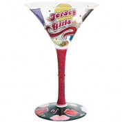 Santa Barbara Design Studio GLS4-5522D Lolita Love My Martini Glass, Jersey Girls