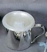 BABY CUP - STRAIGHT SIDE, SILVER PLATED.