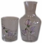 Bedside Sweet Pea Carafe and Glass