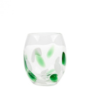Impulse Cloud Rocks Hand-Crafted Glass, Green, Set of 4