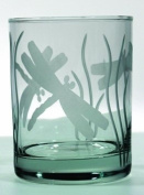 Dragonfly Double Old Fashioned Glass Set