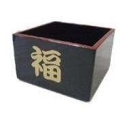 Japanese Plastic Lacquer Sake Cup Nuri Masu Black