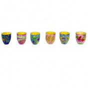 Yair Emanuel 6 Wooden Kiddush Cup Set with The seven Species