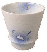 Happy Glass Aritayaki Moon and Rabbit (Wht) 95380