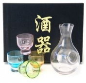Japanese Sake Set with 4 glass cup