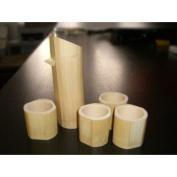 5 pc bamboo sake set