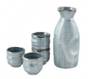 5 pc Sake Set Lt Blue