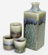 Green Square Sake Set